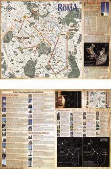 mappa astro stradale di Roma